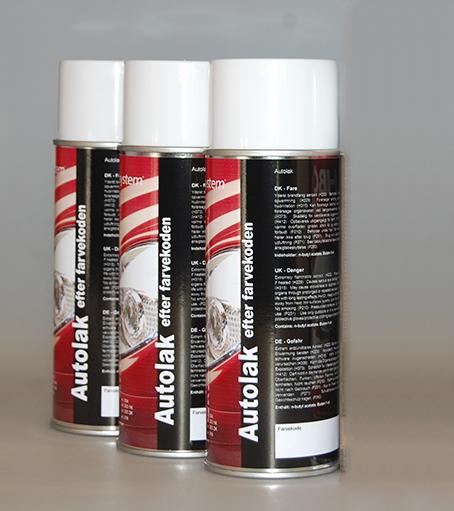 Spraydåse efter farvekode