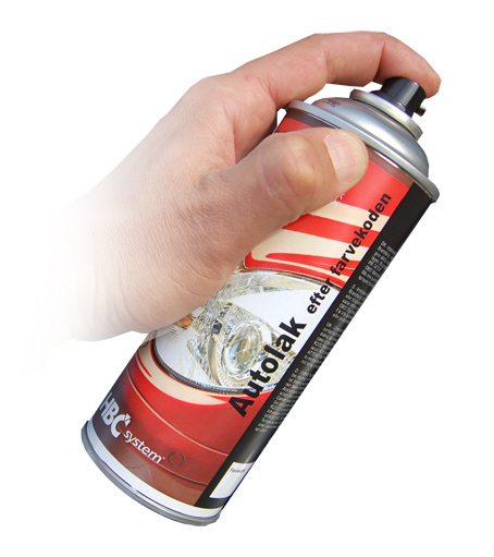 400 ml autolak på spraydåse efter din farvekode